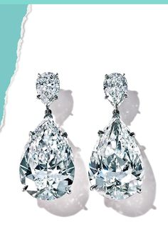 Tiffany OFF! Tiffany Diamond striking example of shape and proportion these platinum earrings of over 24 total carats Tiffany Jewelry, Diamond Earrings Tiffany, Platinum Earrings, Pink Jewelry, Vintage Jewelry, Opal Jewelry, Bridal Jewelry, Flower Jewelry, Bohemian Jewelry