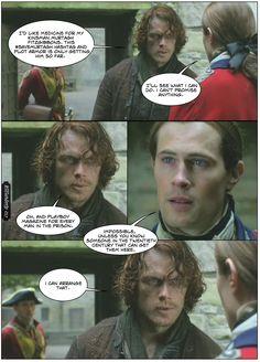 JP's Outlander Recaps and other perspectives from the Dirk Side Outlander Meme, Outlander Season 1, Outlander Series, Lord John Grey Outlander, Soulmate Love Quotes, John Gray, Fandoms, Jamie Fraser, Scandal Abc