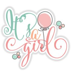 It's a Girl title SVG cut files for scrapbooking cherry svg cut files free svgs free svg cuts cute cut files silhouette cricut