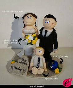 ...ele-ganza...: cake topper #matrimonio personalizzato #customcaketopper #caketopper #toppercake #topcake #weddingidea #weddingcake #wedding #bride #weddingcaketopper #sopratorta #cakedesign #cakeidea #caketop #fimo #clay #clayproject #clayminiature #inter www.ele-ganza.it