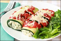 Hungry Girl's Cheese-Stuffed No-Noodle Manicotti  7SP