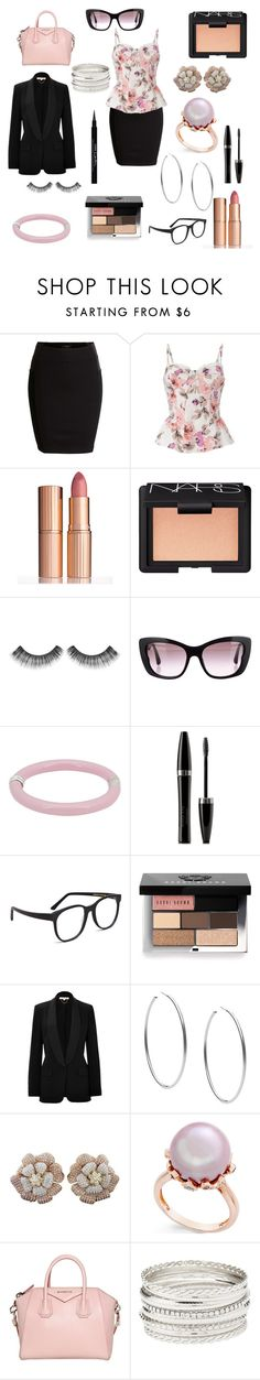 """girly professional"" by samie-greek ❤ liked on Polyvore featuring SELECTED, Red Herring, Charlotte Tilbury, NARS Cosmetics, Sephora Collection, Miu Miu, Tiffany & Co., Mary Kay, Larke and Bobbi Brown Cosmetics"