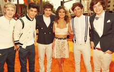 One Direction and Selena Gomez! :)
