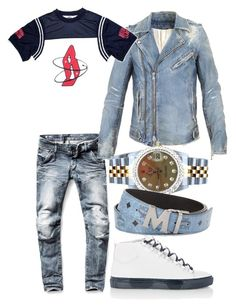 """Icy"" by urblux ❤ liked on Polyvore featuring G-Star Raw, Balmain, Billionaire Boys Club, Balenciaga, Rolex and MCM"