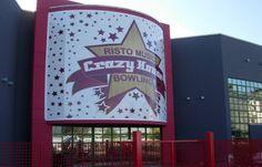 Insegna per Bowling Crazy House