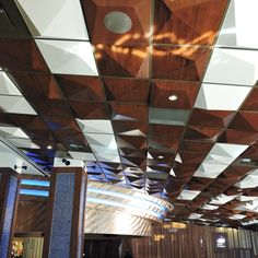 Use the Pyramid Utility ceiling tile to install, sprinkles, lights or vents with Pyramid 2 or Pyramid 4 tile contemporary tile.