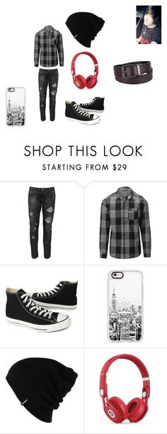 """emo boy"" by lauriemikell04 ❤ liked on Polyvore featuring Paolo Pecora, Converse, Casetify, Patagonia, Beats by Dr. Dre, Urban Pipeline, men's fashion and menswear"