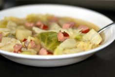 Smoked Sausage, Cabbage & Potato Soup   Aunt Bee's Recipes