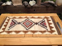 Title: Hand Woven Wool Rug, Vintage Wool Textile Art, Native American Rug, South American Rug, Hand Made Wool Rug. ALL OFFERS WELCOMED AND CONSIDERED. THANKS VERY MUCH!!  Here for your pleasure is one high quality, hand woven wool rug with gentle, muted, and natural colors and bold patterns and designs. The age of this is at least 1970s but they may be much older. I am not sure If they are North or South American. One source said Native American while the other said Peruvian. So you be the…