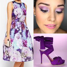 Outfir y maquillaje con tonos morados y lilas!!! Usando pigmento minerales marca Younique