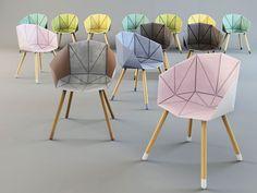 """Le sedute progettate dal designer ucraino Karman Oleksii incluse nella mostra collettiva """"Design Exists!"""" al primo piano di Corte Isolani"""
