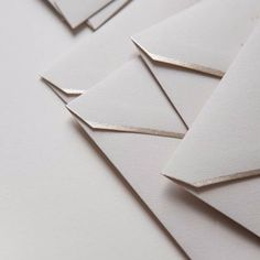 Object: Letter (Metallic Trim Envelopes via Written Word Calligraphy studio) __________  We are all apprentices in a craft where no one ever becomes a master Ernest Hemingway