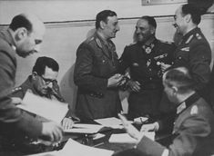 Greek General Georgios Tsolakoglu and SS Obergruppenführer Sepp Dietrich at the signing of the surrender of Greece. Global Conflict, The Third Reich, Army & Navy, History Photos, Interesting History, Military History, Armed Forces, Historical Photos, World War Ii