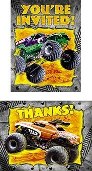 Monster Jam Party Stickers 2 Pack Monster Jam Birthday Party