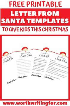 Use any of these four free printable Letter From Santa Templates to delight your kids this Christmas! Respond to your child's letter to Santa by writing to them on one of these cute printable letters from Santa and add some magic to their Christmas! #LetterFromSanta #SantaLetters #LetterFromSantaTemplate #LetterFromSantaPrintable Santa Letter Template, Santa Letter Printable, Letter Templates, Christmas Crafts For Kids, Family Christmas, Santa Address, Cool Signatures, Cute Letters