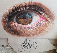 hyper realistic human drawings | ... Artist Draws Unbelievably Realistic Eyes Using Just Colored Pencils