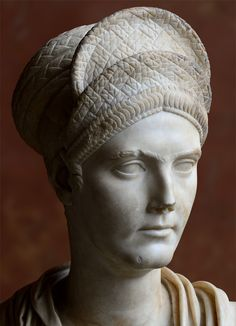 Bust of Matidia, the niece of Trajan. Marble. Ca. 112 CE. Height 77 cm. Inv. N. Ma 1196. Paris, Louvre Museum.