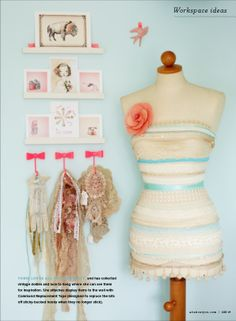 Meet the Crafters from Prima Spring Makes. I would love to have one mannequin like the one in the picture.