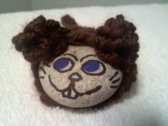 Crocheted Brown Rock Mouse by steveross4 on Etsy, $5.00