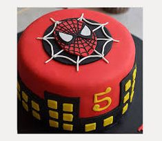 Image result for easy spiderman cake