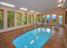 Go For a Swim During Your Winter Vacation at Our Gatlinburg Cabins With Indoor Pools!