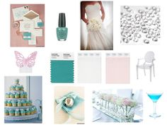 @Veronica Humphreys-Turquoise inspired wedding (add navy for contrast)