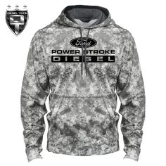 Ford Power Stroke Mineral Freeze Hoody Available at www.DieselTees.com