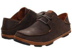 OluKai Ohana Lace Up Nubuck Men's Shoes Dark Wood/Toffee