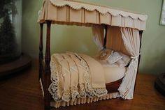 OOAK Canopy Bed  |  Custom Dollhouses by Liz LeBosse | Miniatures