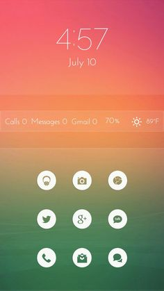 [Homepack Buzz] Check this awesome homescreen! Debbie Oatman | My Homepack Glass Zooper widget Skin . The included widgets are the clock, message bar and app grid. The widgets and wallpaper and icon p