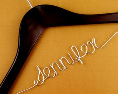 Single Line Wire First Name Hanger Custom Wedding by haomaihanger, $5.99  For my bridesmaids!