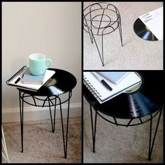 Cowie's Craft & Cooking Corner: Record Album Side Table