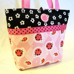Kids Purse LADYBUGS Pink Little Girls Purse by Heart2Handbags
