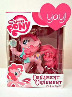 2011 My Little Pony Pinkie Pie Ornament | I wouldn't hang this on tree, it would be going in my room, hanging from a random place.