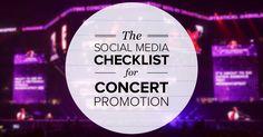 social media for concerts