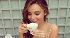 Miranda Kerr's facial routine is so simple (and cheap!) you can follow it to a T(ea).