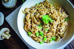 Jemne krémové a šťavnaté. Také je hubové rizoto s jemnou smotanou a parmezánom.