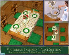 cashcraft's Victorian Inspired Place Settings