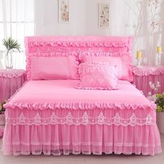 1 Piece Lace Bed Skirt Pillowcases bedding set Princess Bedding Bedspreads sheet Bed For Girl bed Cover King/Queen size Red Bedspread, Lace Bedding, Queen Size Bedding, Bedding Sets, Floral Bedspread, King Size Bed Sheets, Girl Bedding, Bed Sheet Sets, Cotton Bedding