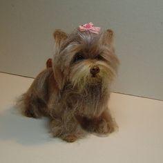 Custom needle felted dog or cat sculpture by DreamwoodArtDesigns, $149.00