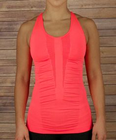 Look at this #zulilyfind! Coral Fierce Seamless Racerback Tank by Respect Your Universe #zulilyfinds
