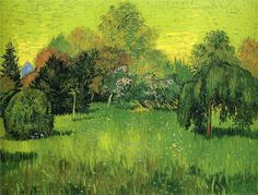 Public Park with Weeping Willow The Poet s Garden I - Vincent van Gogh -  1888 - Place of Creation: Arles  ..........#GT