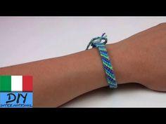 Come realizzare un braccialetto dell´amicizia disegno diamante tutorial fai da…