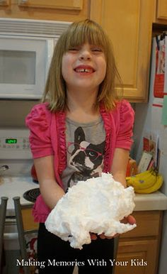 Put slice Ivory soap on a paper towel, microwave for 1 minute. (Look at the girl's adorable shirt! Science Experiments Kids, Science For Kids, Activities For Kids, Crafts For Kids, Ivory Soap, Heart For Kids, Making Memories, Just For Fun, Cute Shirts