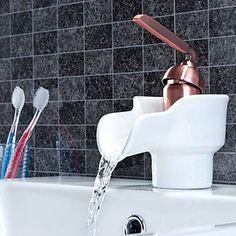 Badezimmer Küche Moderne Chrom-Finish Ein Loch Einhand-Wasserfall Waschbecken…