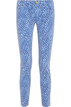 MICHAEL Michael Kors Printed mid-rise skinny jeans | THE OUTNET
