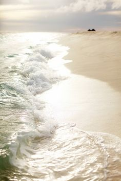Waves roll in