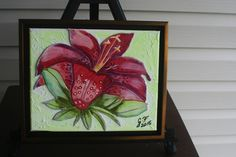 Magenta Orchid FRAMED LEATHER COLLAGE, Art, Wall Art, Original Signed Art, Wall Decor, 3 D Art, Painting, Collage, Wall Art, Home Decor Art, by LindasLeatherStore on Etsy