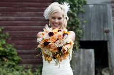 The vintage wedding flowers. So much fun to create! See more at blessingsandblossoms.com