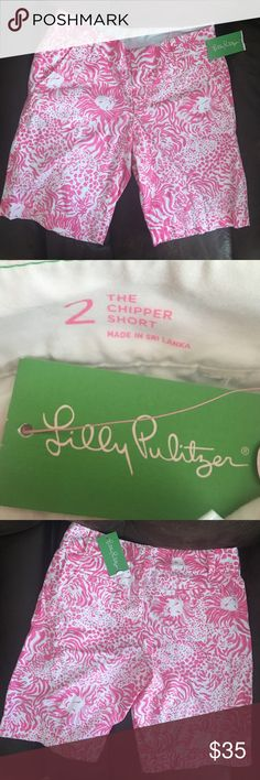 LILLY PULITZER RESORT SHORT NWT NWT Lilly Pulitzer. Resort get spotted short. Size 2. The chipper short Lilly Pulitzer Shorts